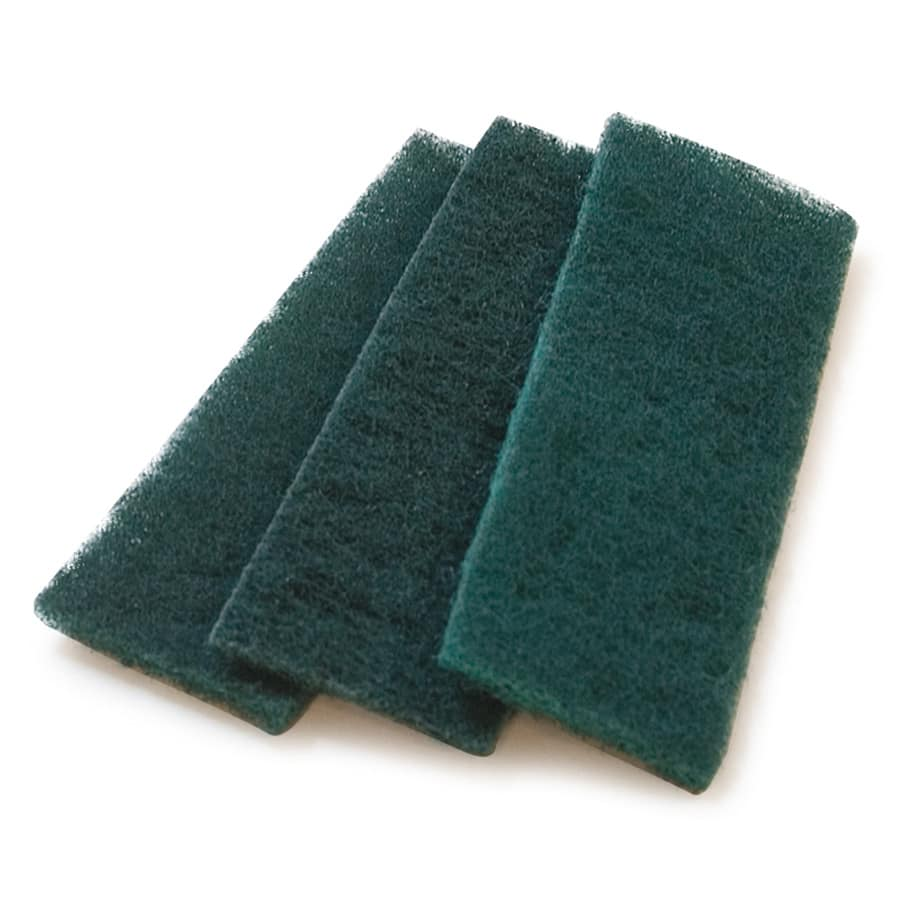 "Carlisle 4072908 Meat Slicer Scrub Pad - 4 1/2x1 5/8"" Single Use, Synthetic, Green"