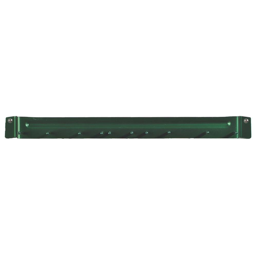 """Carlisle 4073509 17"""" Brush Rack - Wall Mount, Aluminum, Green"""