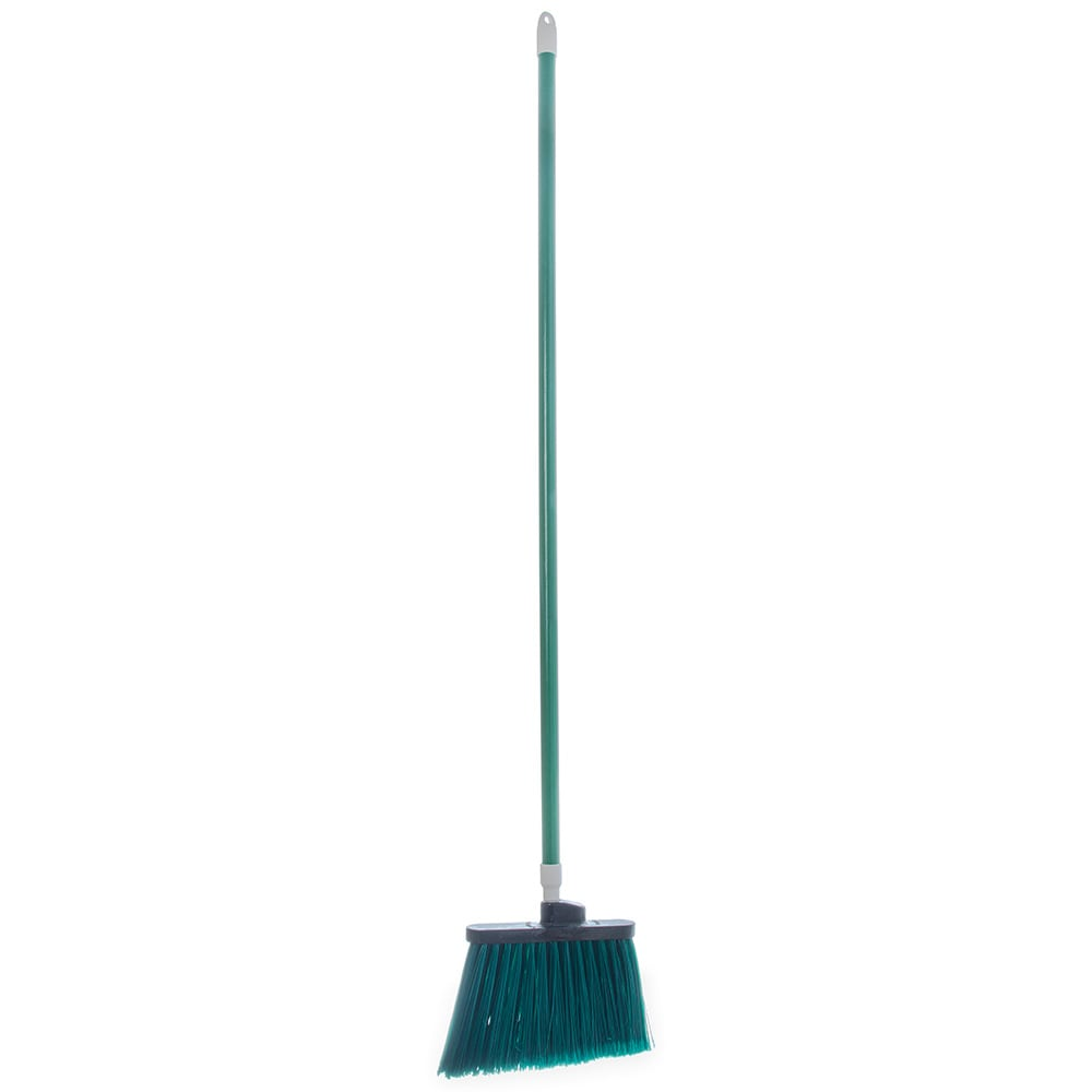 "Carlisle 4108209 56""L Sparta® Spectrum® Duo-Sweep® Lobby Broom w/ Angle Bristles & Green Handle"