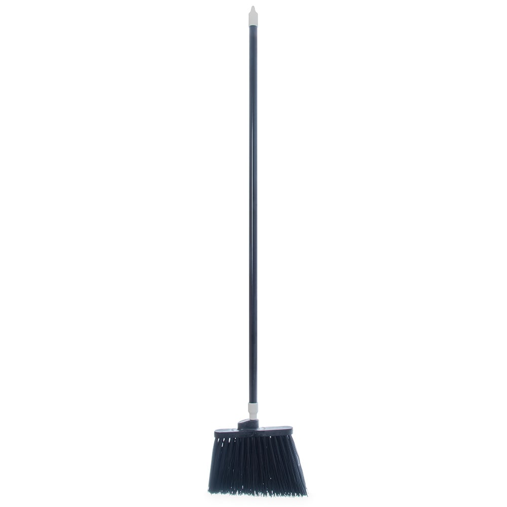 "Carlisle 4108303 56""L Sparta® Spectrum® Duo-Sweep® Lobby Broom w/ Angle Bristles & Black Handle"