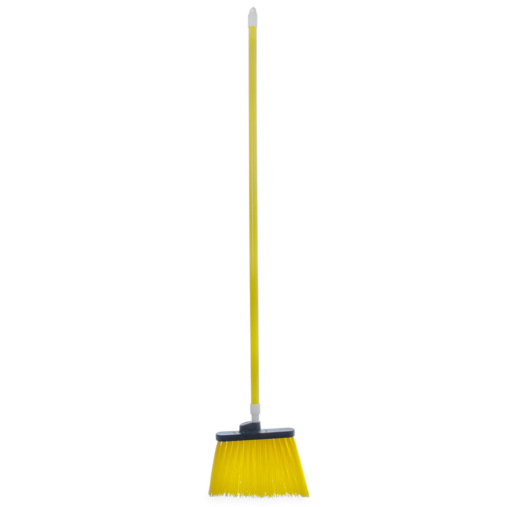 "Carlisle 4108304 56""L Sparta® Spectrum® Duo-Sweep® Lobby Broom w/ Angle Bristles & Yellow Handle"