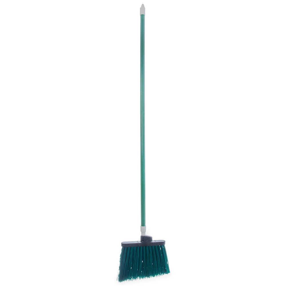 "Carlisle 4108309 12"" Angle Broom - 48"" Handle, Unflagged Bristles, Green"