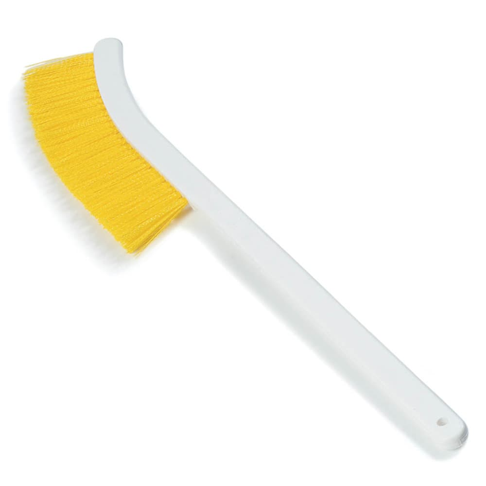 "Carlisle 4119804 24"" Wand Brush w/ Polyester Bristles, Yellow"