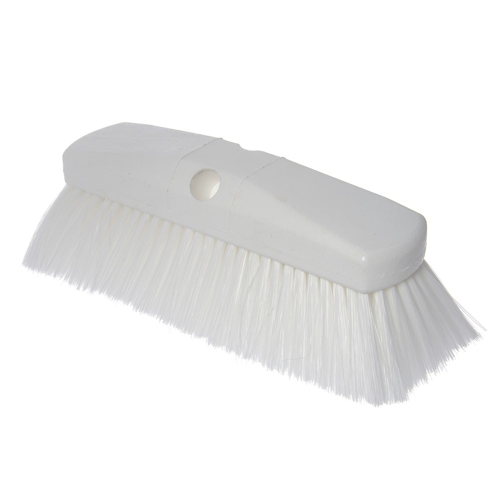 "Carlisle 4127802 10"" Flo-Thru Brush w/ Nylon Bristles, White"