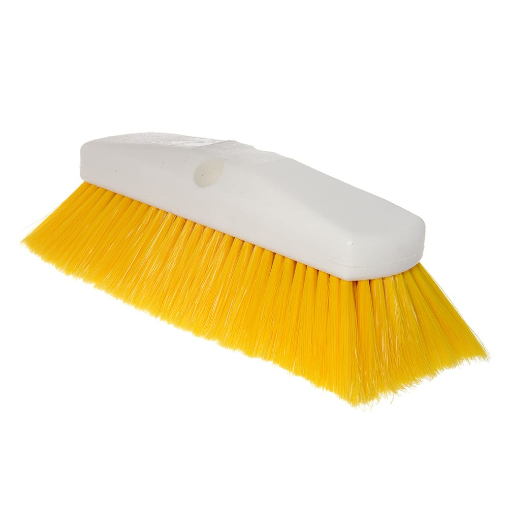 "Carlisle 4127804 10"" Flo-Thru Brush w/ Nylon Bristles, Yellow"