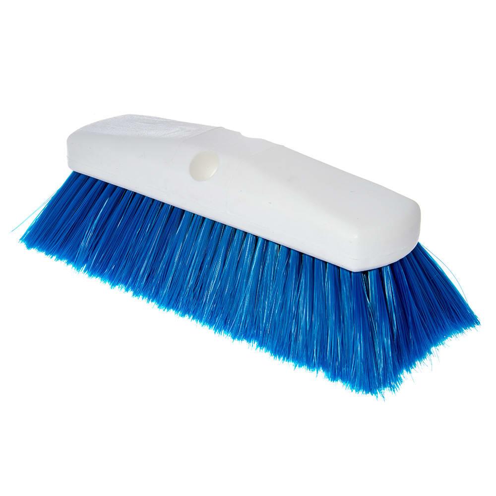 "Carlisle 4127814 10"" Flo-Thru Brush w/ Nylon Bristles, Blue"