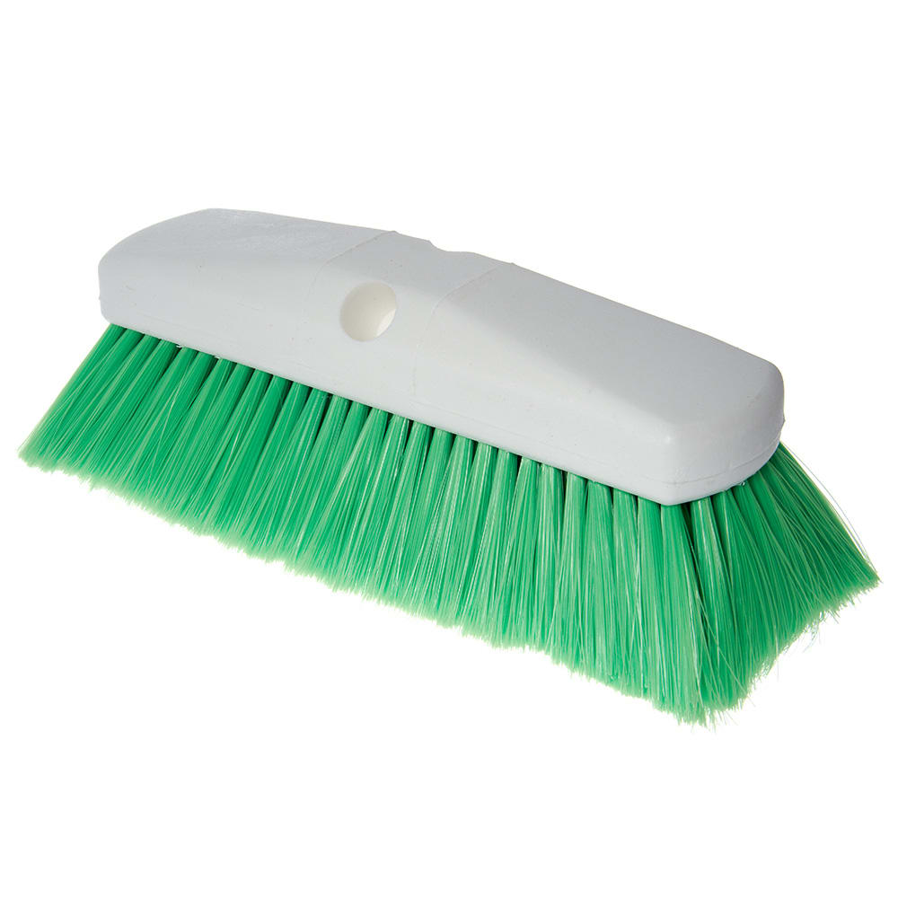 "Carlisle 4127875 10"" Flo-Thru Brush w/ Nylon Bristles, Green"