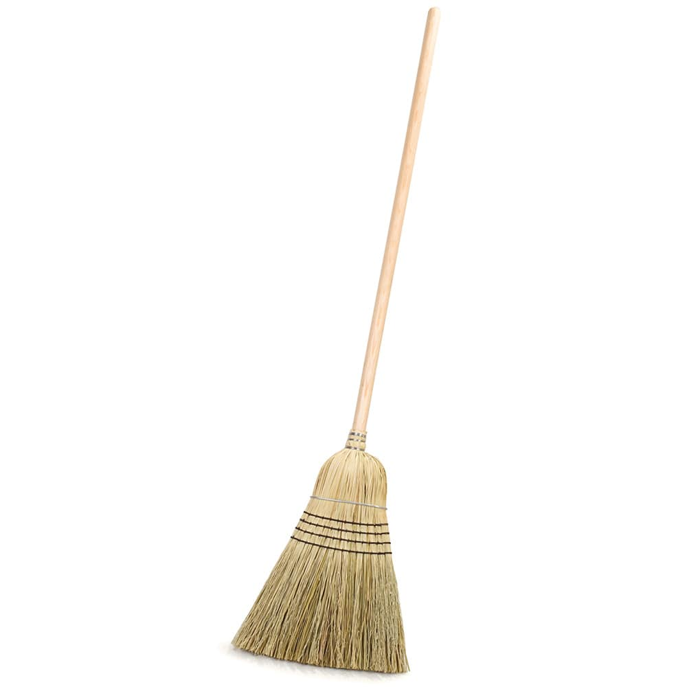 "Carlisle 4135467 56""H Warehouse Corn Broom w/ 12"" Head"