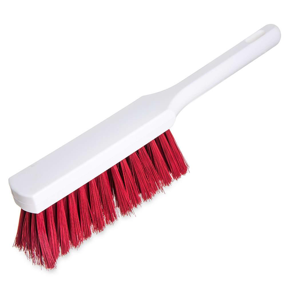 "Carlisle 4137205 13"" Counter Brush w/ Polyester Bristles, Red"