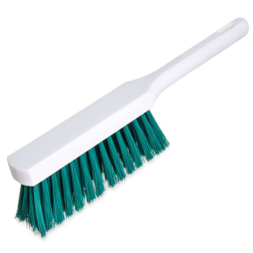 "Carlisle 4137209 13"" Counter Brush w/ Polyester Bristles, Green"