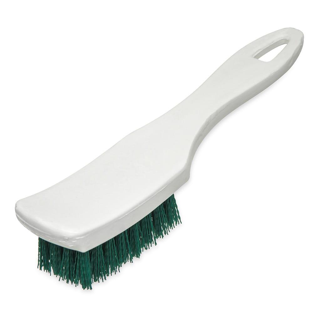 "Carlisle 4139509 7.25"" Multi Purpose Hand Brush w/ Polyester Bristles, Green"