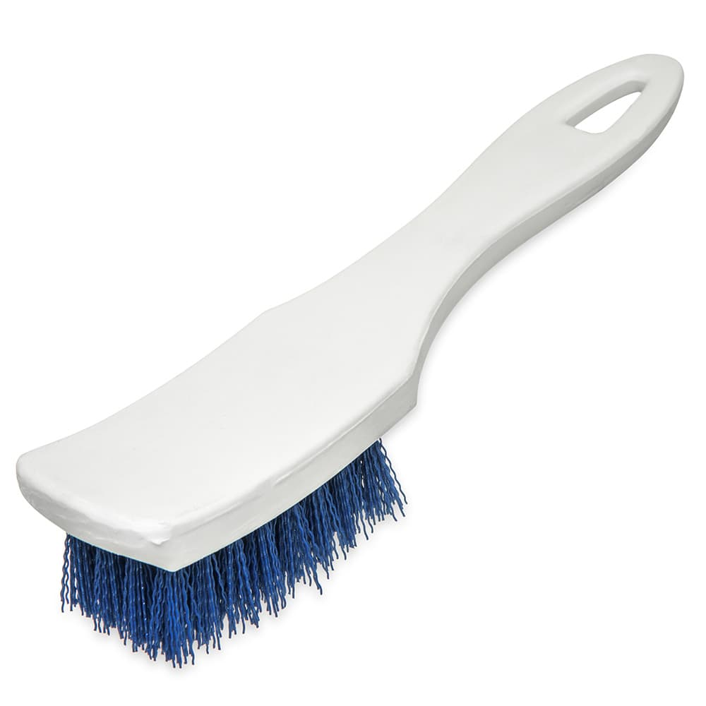 "Carlisle 4139514 7.25"" Multi Purpose Hand Brush w/ Polyester Bristles, Blue"