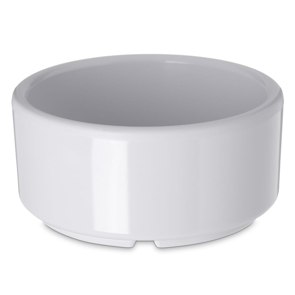Carlisle 41402 4 oz Footed Ramekin - Melamine, White