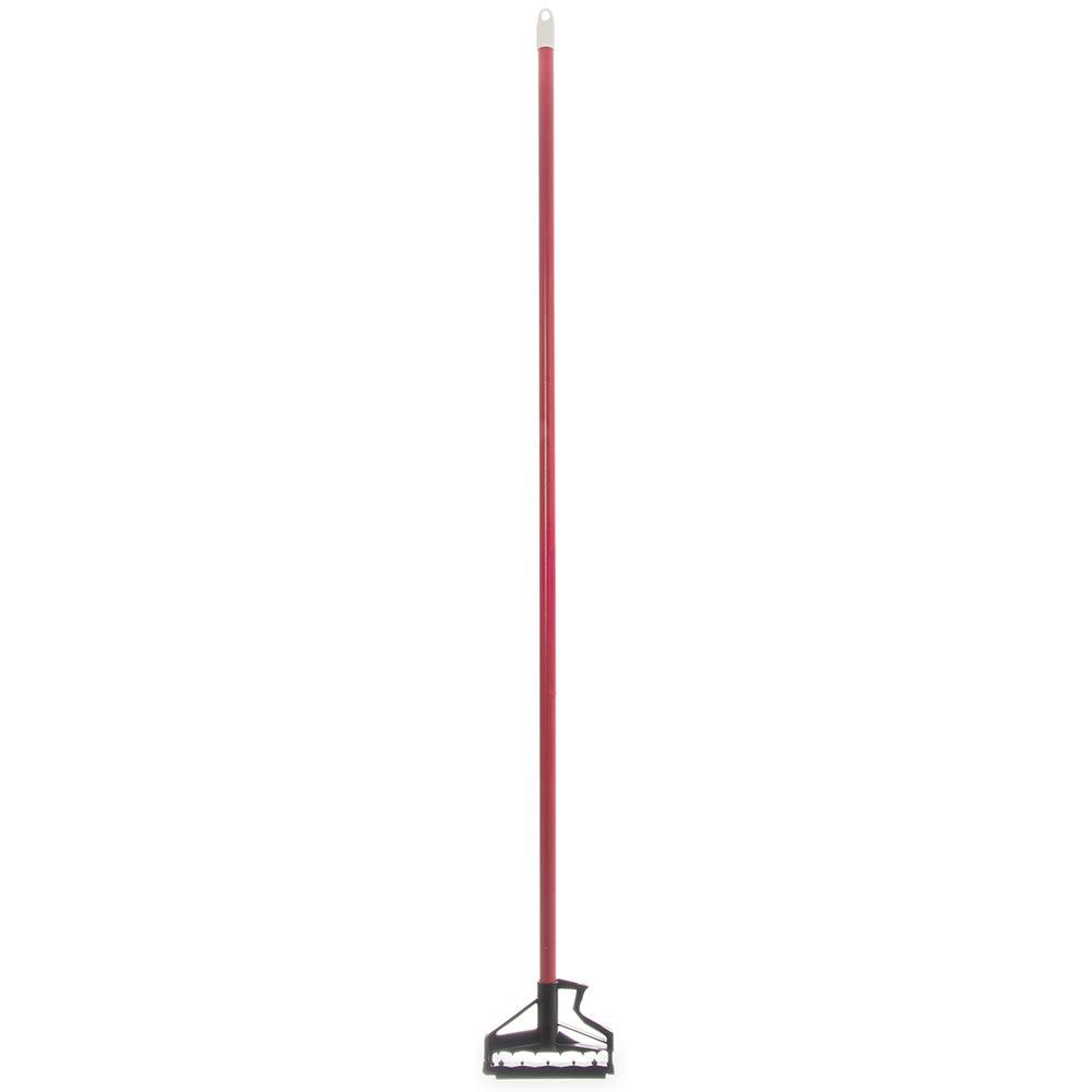 "Carlisle 4166405 60"" Quik-Release™ Mop Handle w/ Plastic Head, Fiberglass, Red"