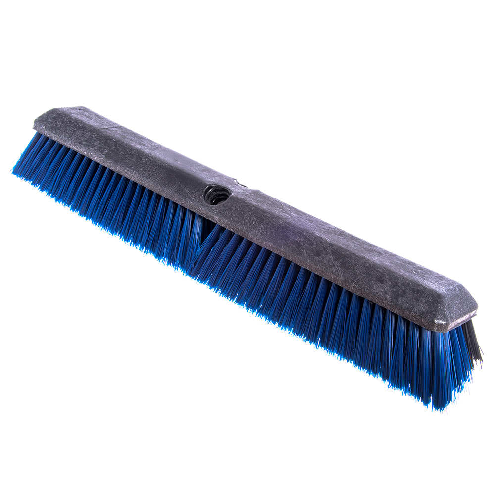 "Carlisle 4188100 24"" Push Broom Head w/ Short Heavy Front & Fine/Medium Back Bristles"