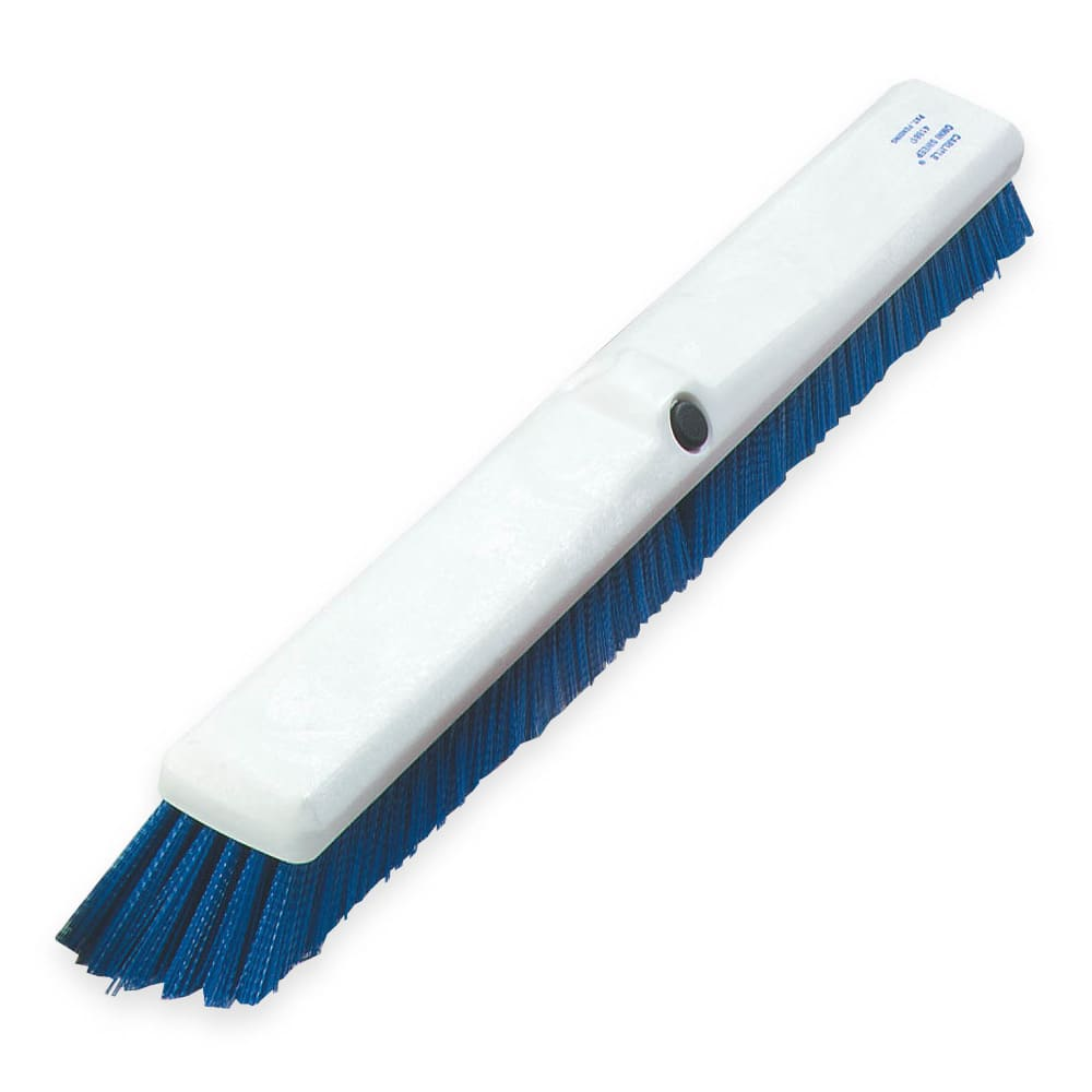 "Carlisle 4189014 18"" Push Broom Head w/ Synthetic Bristles, Blue"