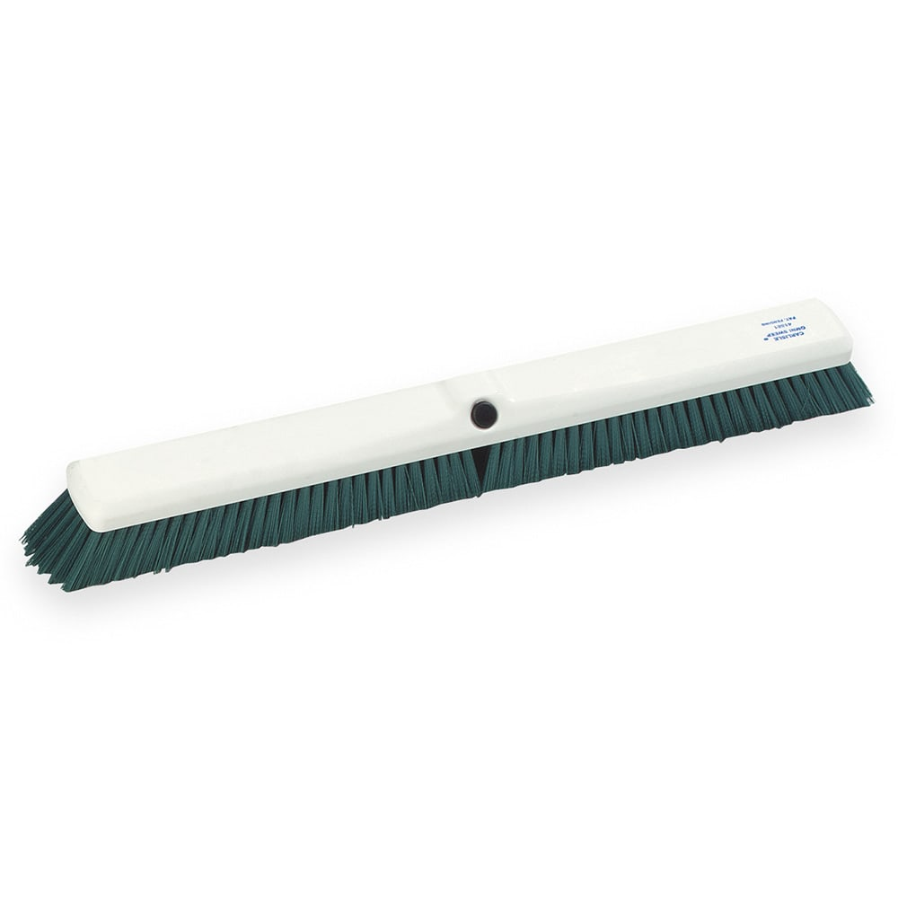"Carlisle 4189109 24"" Push Broom Head w/ Synthetic Bristles, Green"