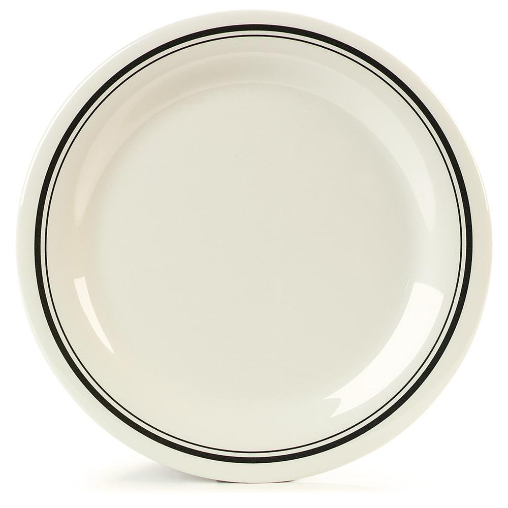 "Carlisle 43003905 10.5"" Round Dinner Plate w/ Narrow Rim, Melamine, Orleans on Bone"