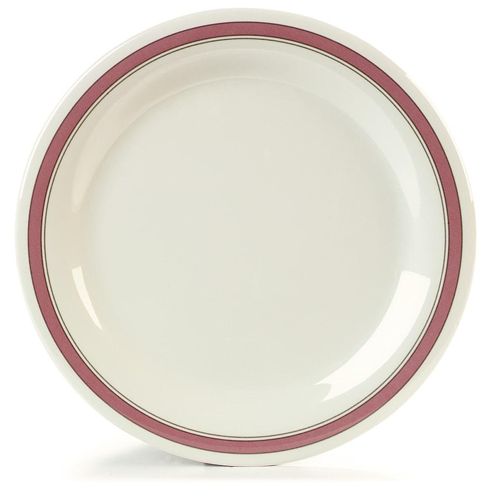 "Carlisle 43003906 10.5"" Round Dinner Plate w/ Narrow Rim, Melamine, Parisian on Bone"