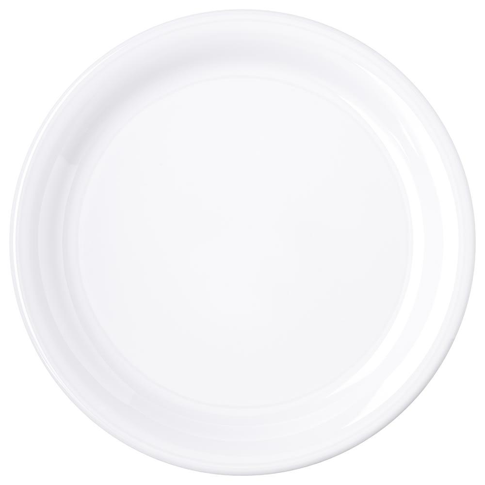 "Carlisle 4300402 9"" Round Dinner Plate w/ Narrow Rim, Melamine, White"