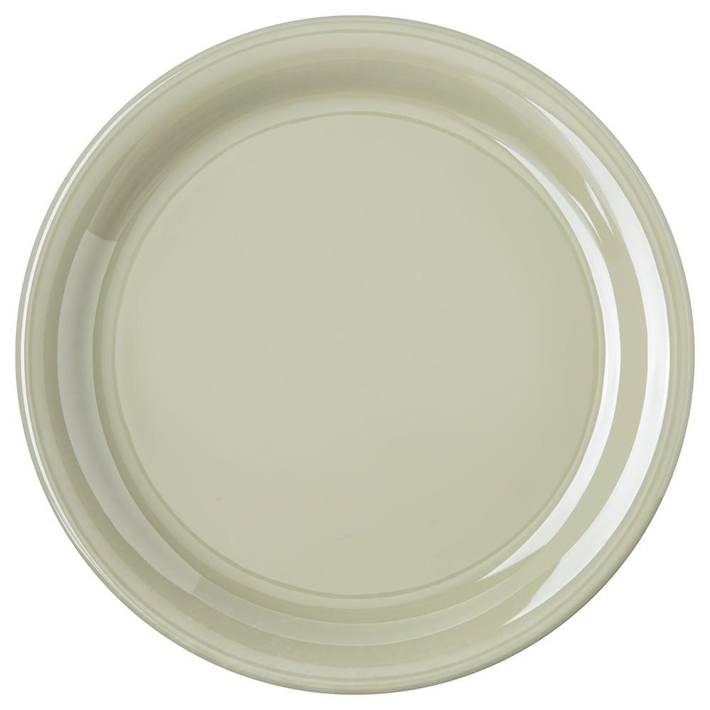 "Carlisle 4300416 9"" Round Dinner Plate w/ Narrow Rim, Melamine, Firenze Green"