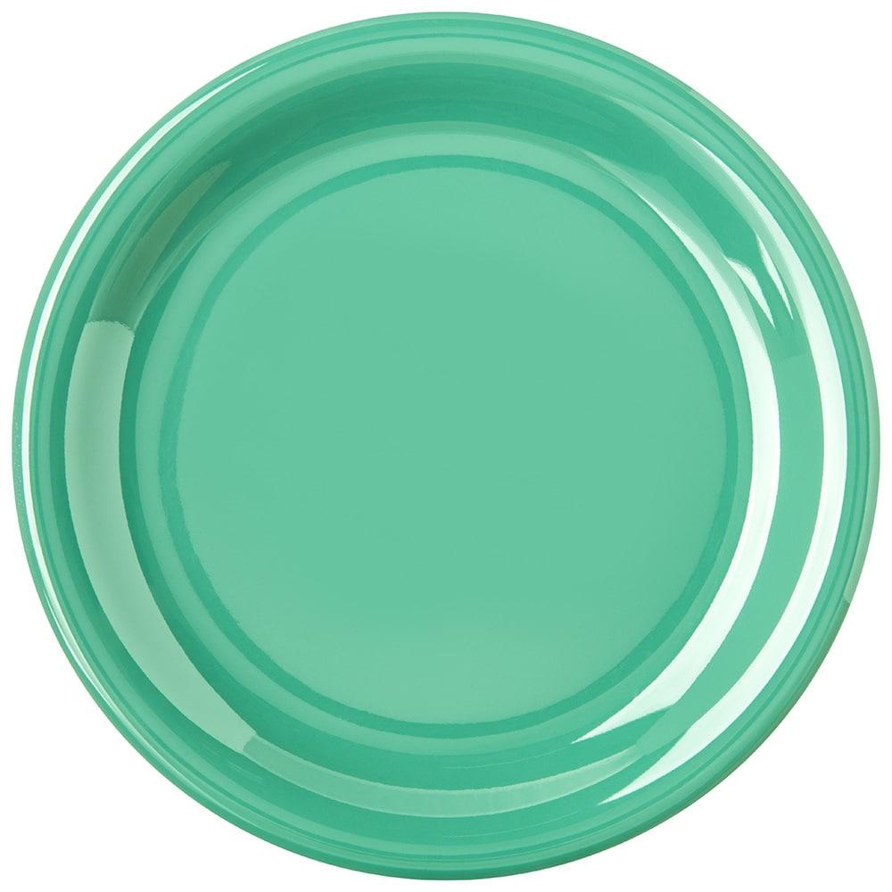 "Carlisle 4300609 7.25"" Round Dinner Plate w/ Narrow Rim, Melamine, Meadow Green"