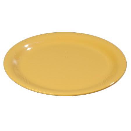 "Carlisle 4300622 7-1/4"" Durus Salad Plate - Narrow Rim, Melamine, Honey Yellow"