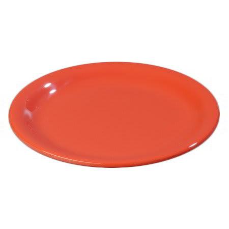 """Carlisle 4300652 7-1/4"""" Durus Salad Plate - Narrow Rim, Melamine, Sunset Orange"""