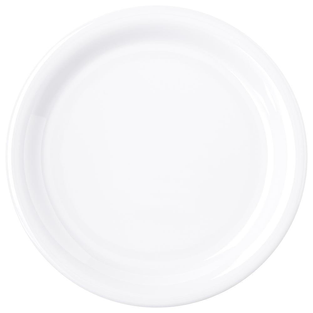 "Carlisle 4300802 6.5"" Round Pie Plate w/ Narrow Rim, Melamine, White"