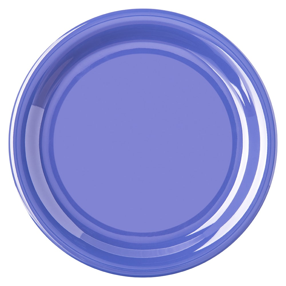 "Carlisle 4300814 6.5"" Round Pie Plate w/ Narrow Rim, Melamine, Ocean Blue"