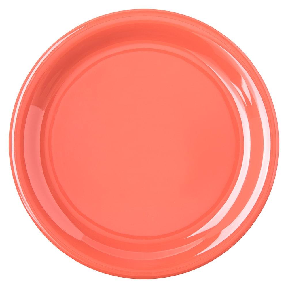 "Carlisle 4300852 6.5"" Round Pie Plate w/ Narrow Rim, Melamine, Sunset Orange"