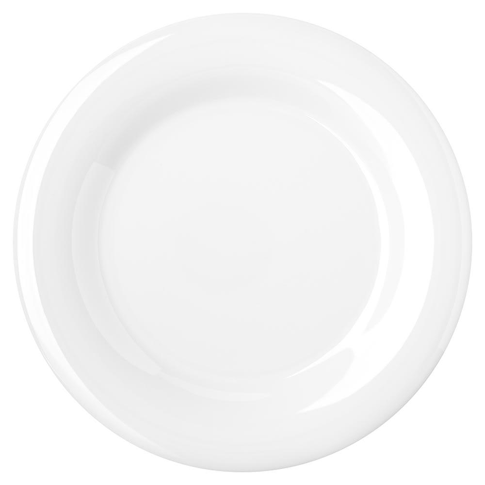 "Carlisle 4301002 10.5"" Round Dinner Plate w/ Wide Rim, Melamine, White"