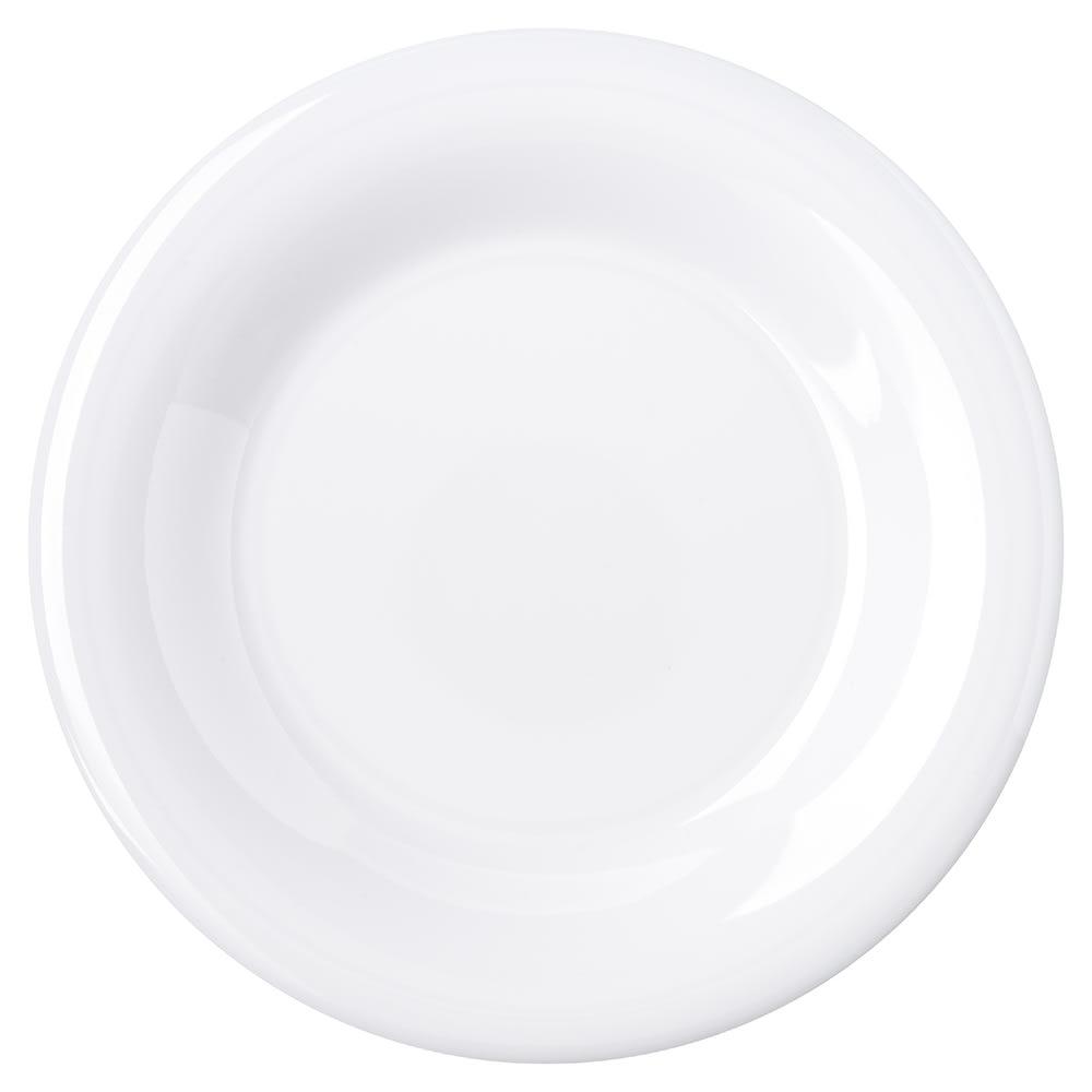 "Carlisle 4301602 7.5"" Round Salad Plate w/ Wide Rim, Melamine, White"