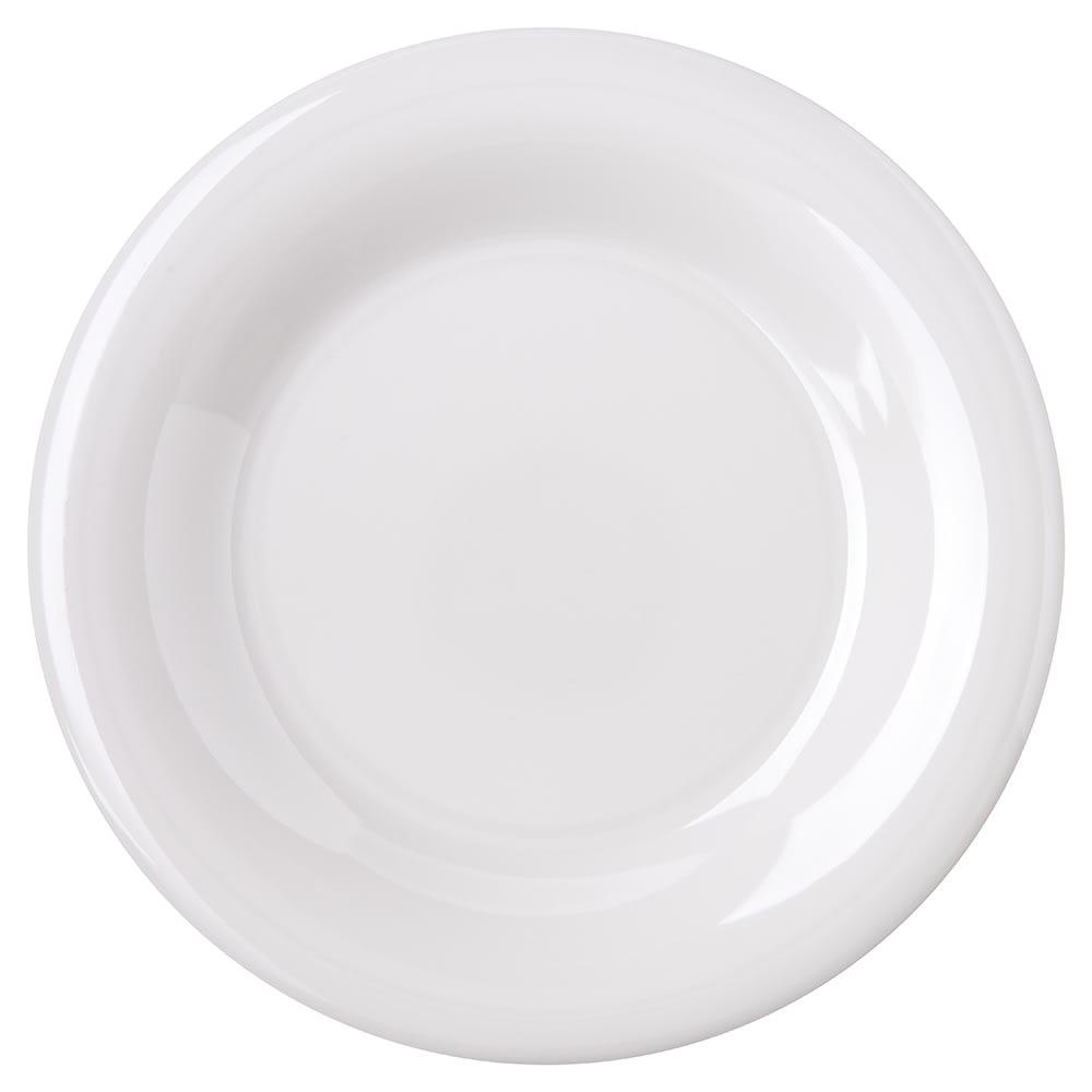 "Carlisle 4301642 7.5"" Round Salad Plate w/ Wide Rim, Melamine, White"
