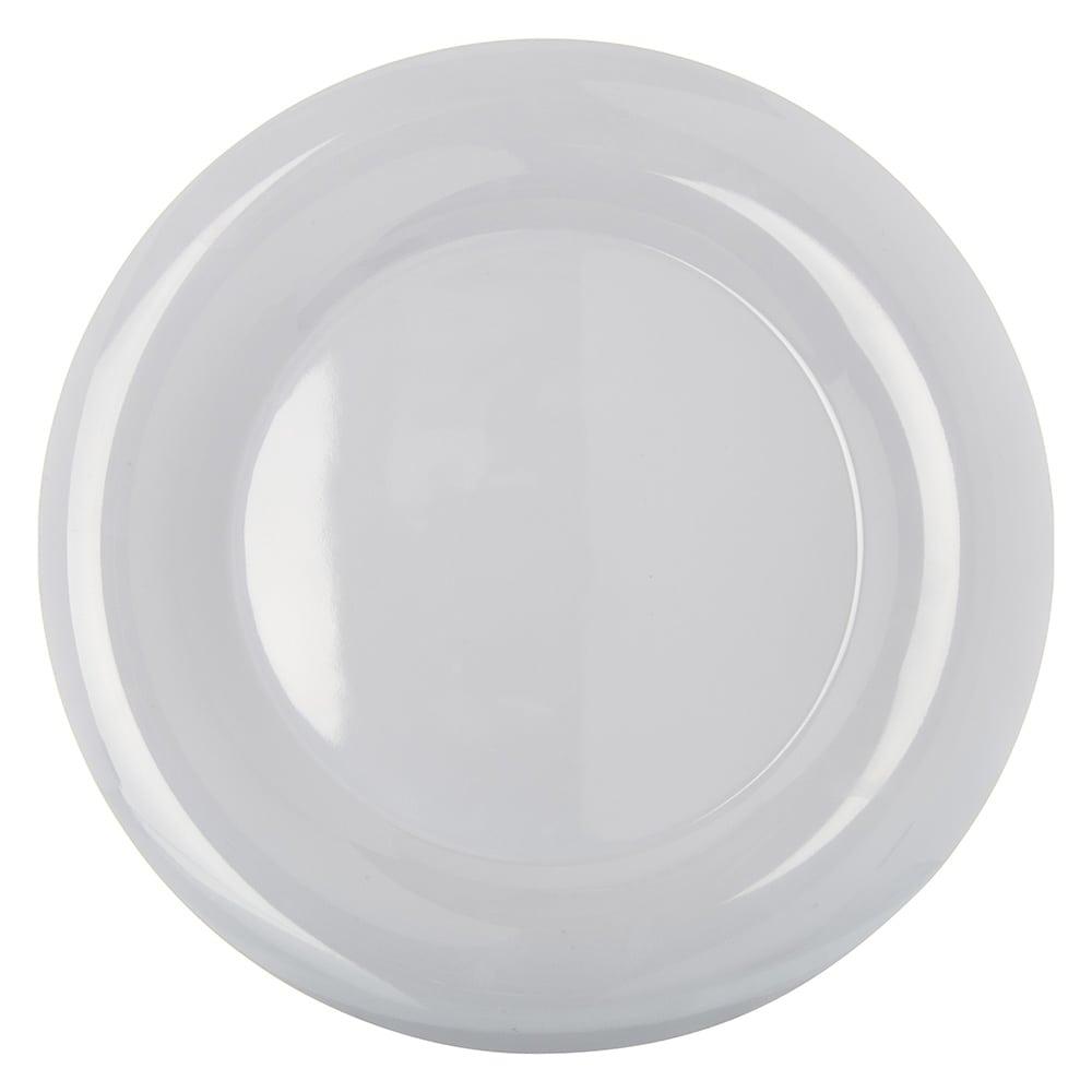 "Carlisle 4302402 12"" Round Dinner Plate w/ Wide Rim, Melamine, White"