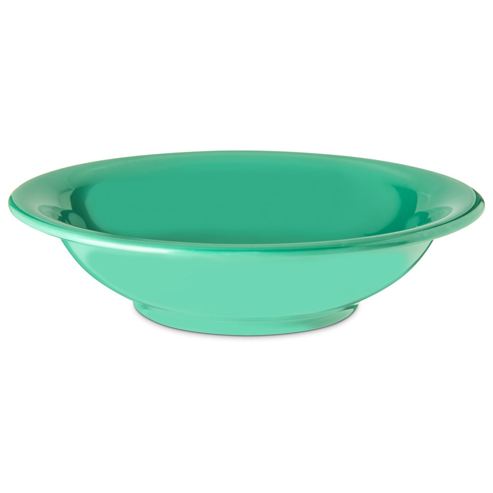 "Carlisle 4303209 7.5"" Round Rim Soup Bowl w/ 16 oz Capacity, Melamine, Meadow Green"