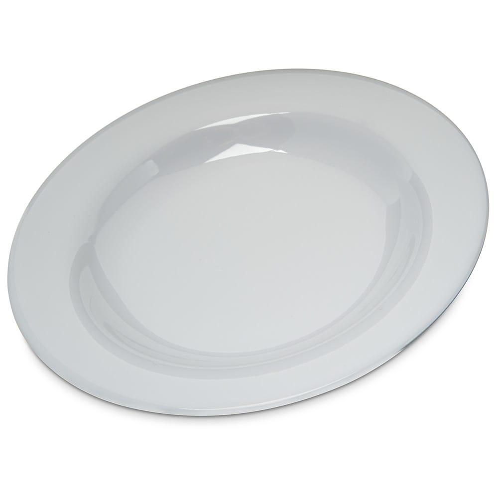 "Carlisle 4303402 9.25"" Round Pasta/Soup/Salad Bowl w/ 13 oz Capacity, Melamine, White"