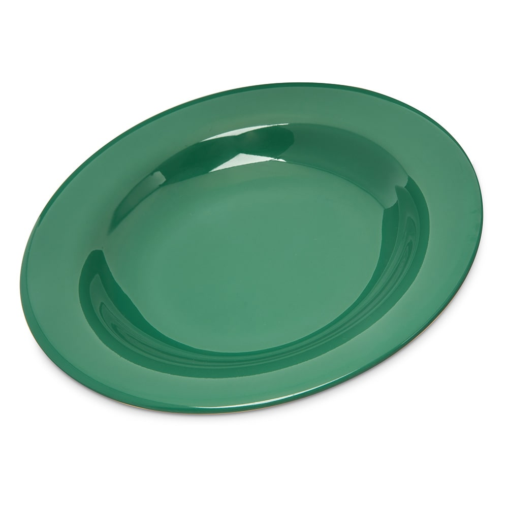 "Carlisle 4303409 9.25"" Round Pasta/Soup/Salad Bowl w/ 13-oz Capacity, Melamine, Meadow Green"