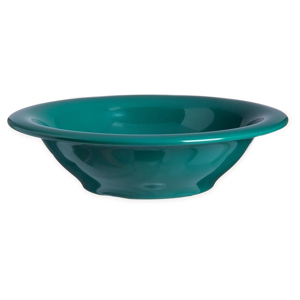 "Carlisle 4303609 7.25"" Round Rim Soup Bowl w/ 12 oz Capacity, Melamine, Meadow Green"