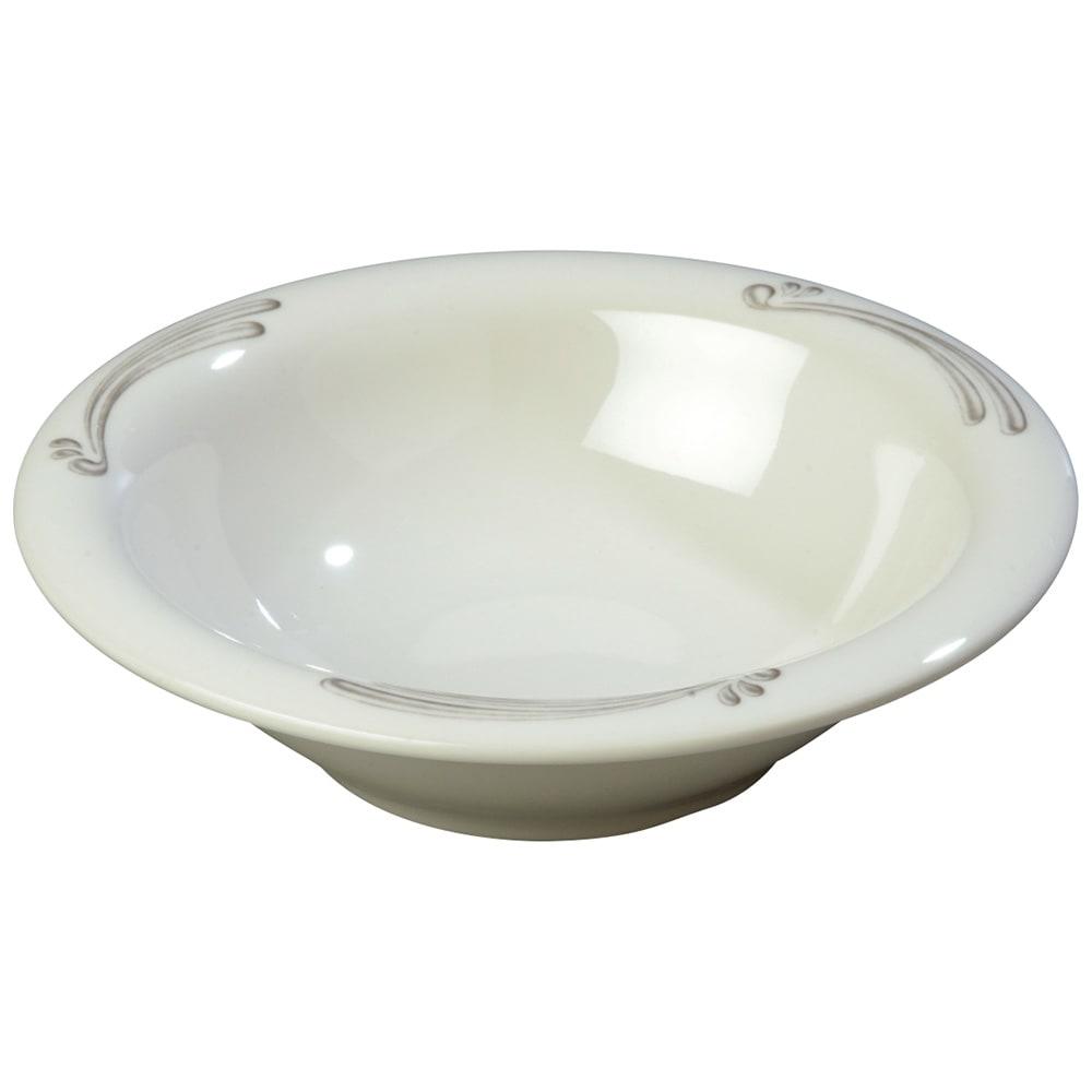 "Carlisle 43037909 7.25"" Round Rim Soup Bowl w/ 12-oz Capacity, Melamine, Versailles on Bone"