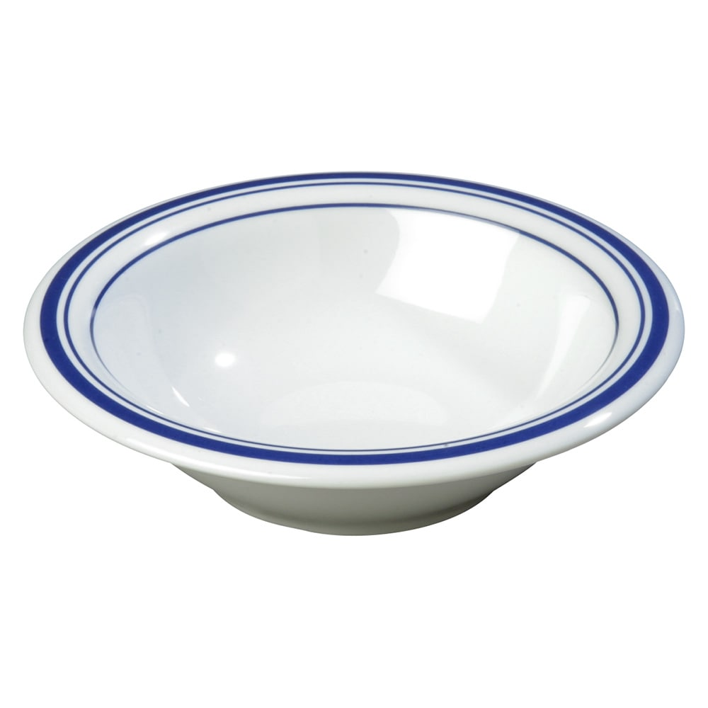 "Carlisle 43037912 7.25"" Round Rim Soup Bowl w/ 12-oz Capacity, Melamine, London on White"