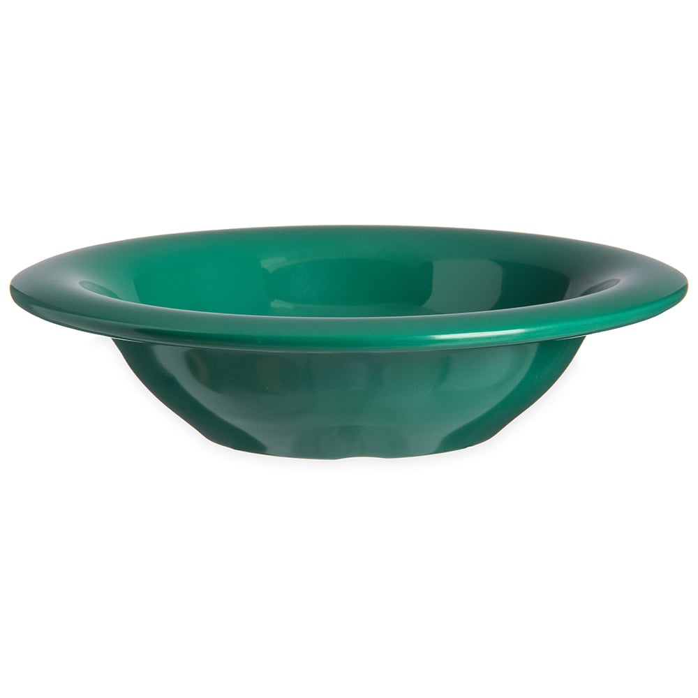 "Carlisle 4304009 6"" Round Rim Soup Bowl w/ 6 oz Capacity, Melamine, Meadow Green"