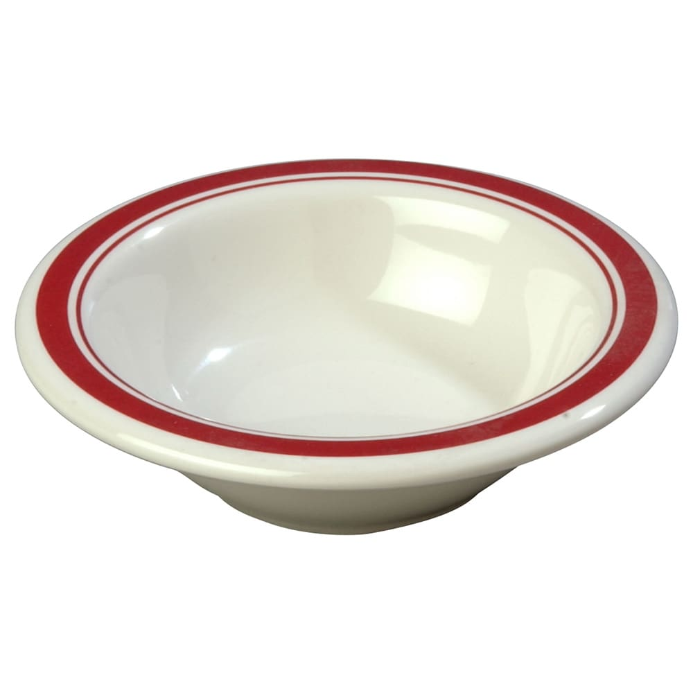 "Carlisle 43043907 4.75"" Round Fruit Bowl w/ 4.5 oz Capacity, Melamine, Roma on Bone"