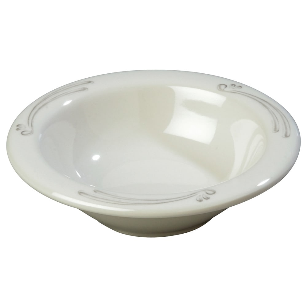 "Carlisle 43043909 4.75"" Round Fruit Bowl w/ 4.5 oz Capacity, Melamine, Versailles on Bone"