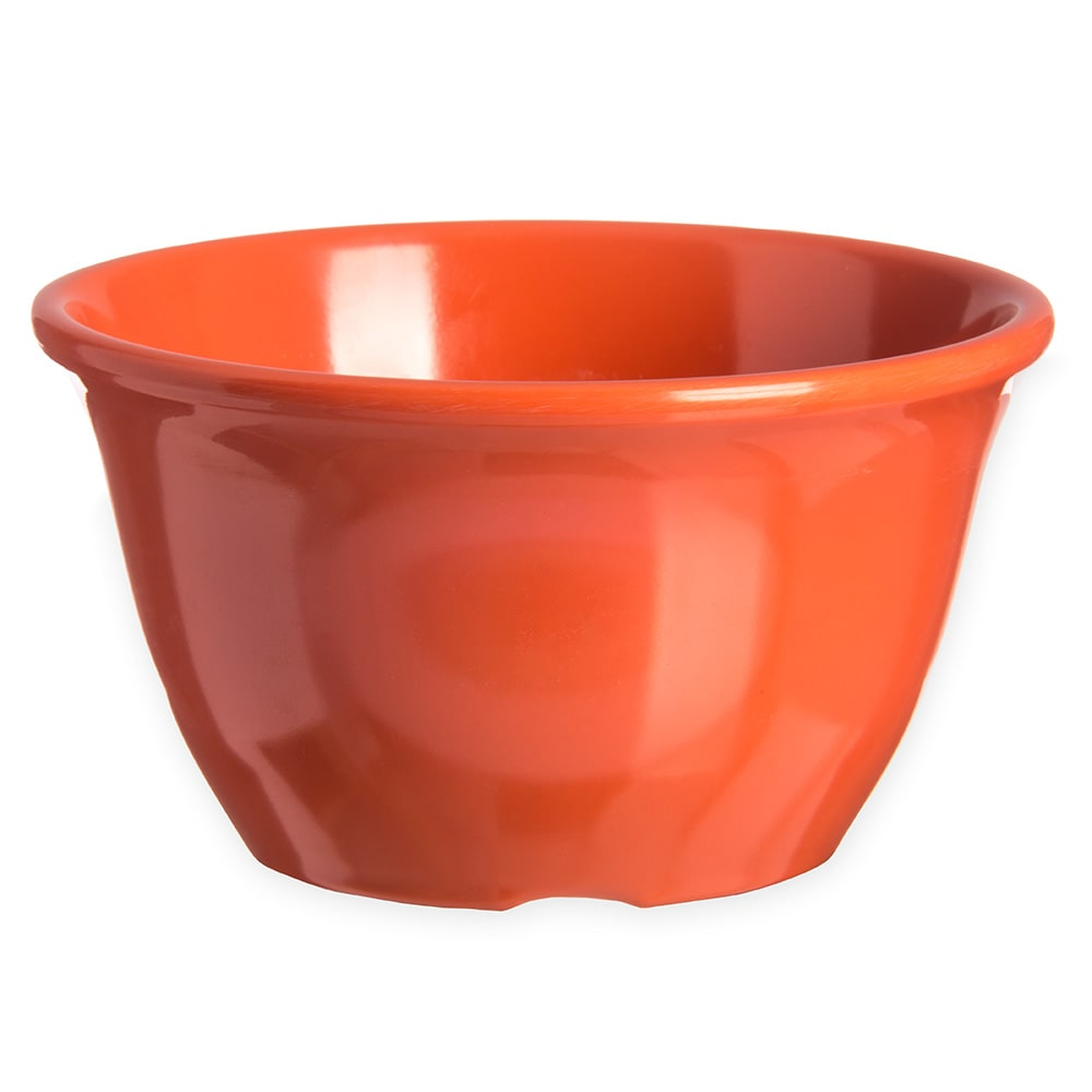 "Carlisle 4305052 4"" Round Bouillon Cup w/ 7-oz Capacity, Melamine, Sunset Orange"