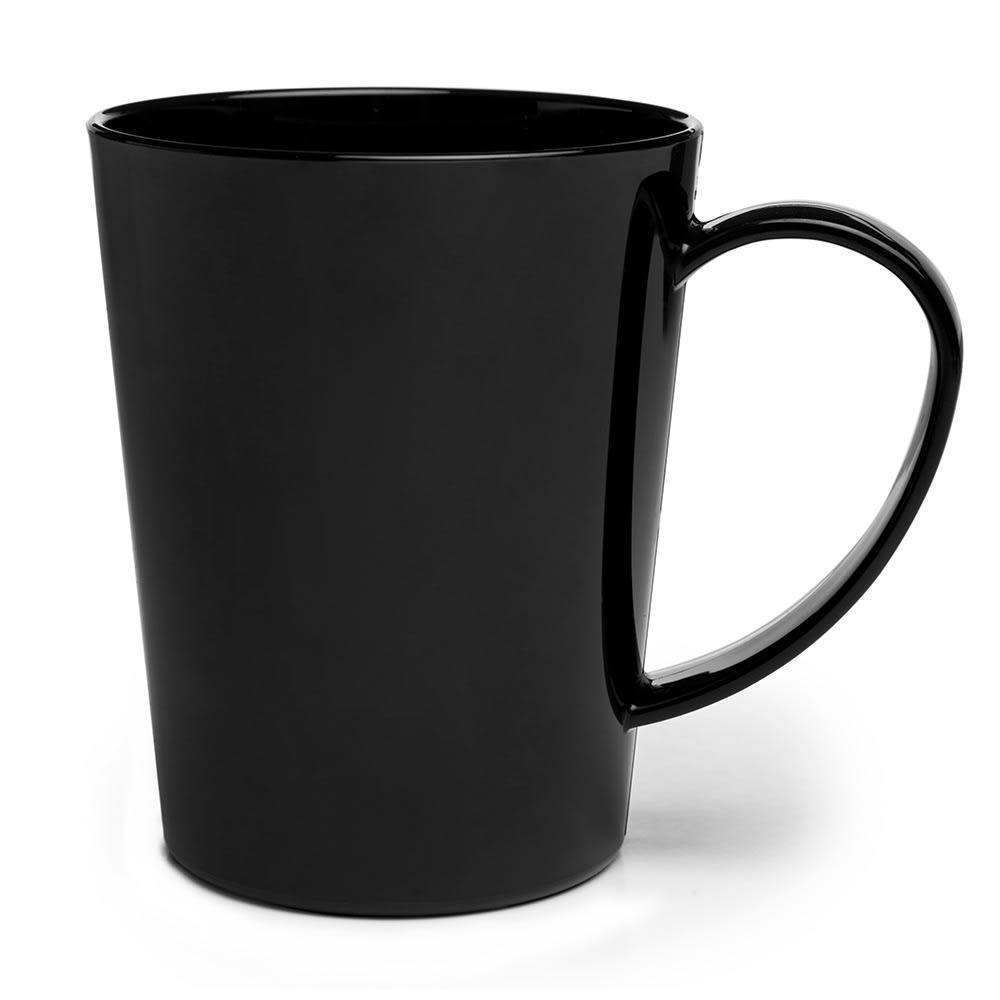 Carlisle 4306803 12-oz Nestable Mug, Easy Grip Handle - Black