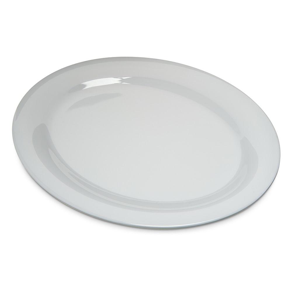 """Carlisle 4308202 Oval Platter - 12"""" x 9.25"""", Melamine, White"""