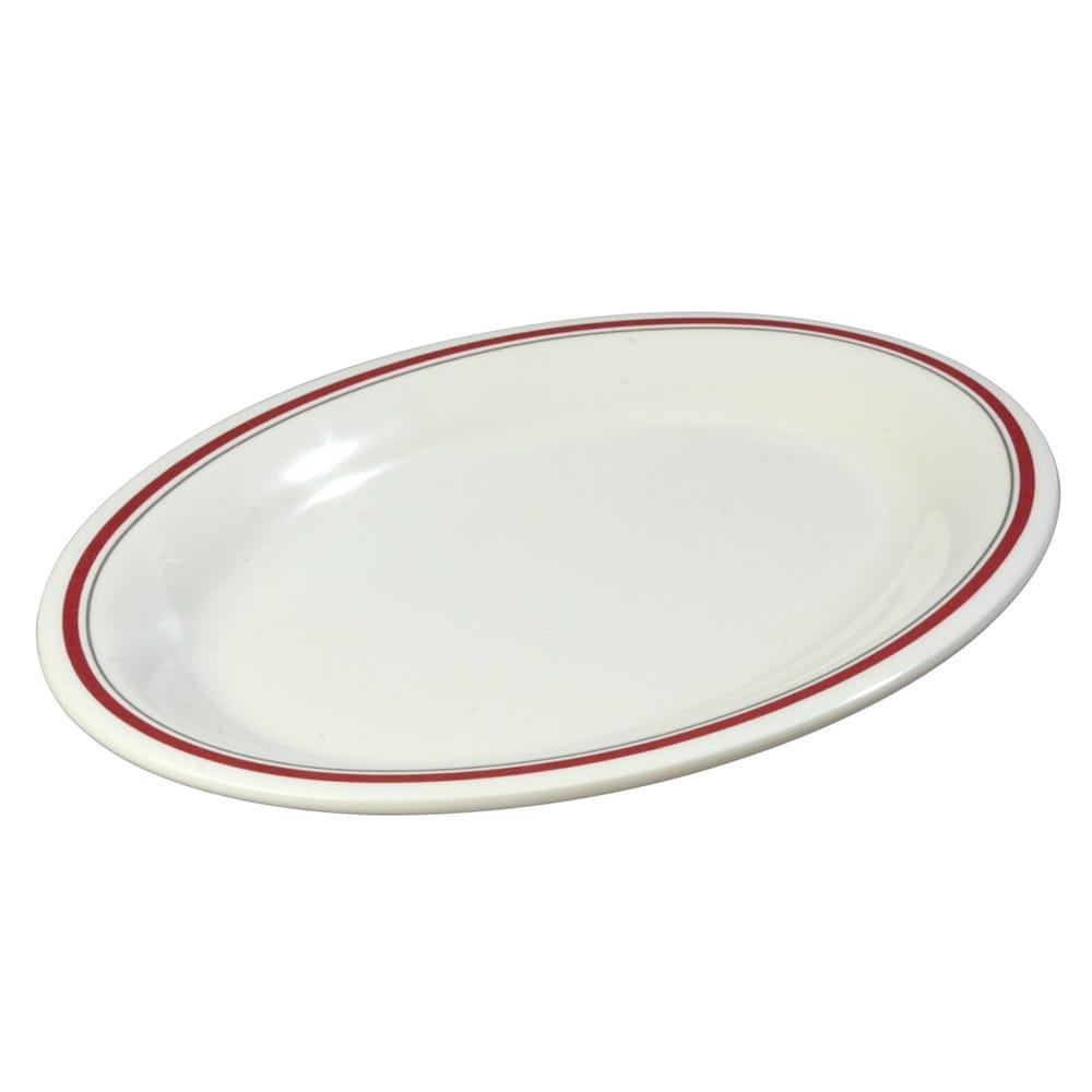 "Carlisle 43083903 Oval Platter - 12"" x 9.25"", Melamine, Morocco on Bone"