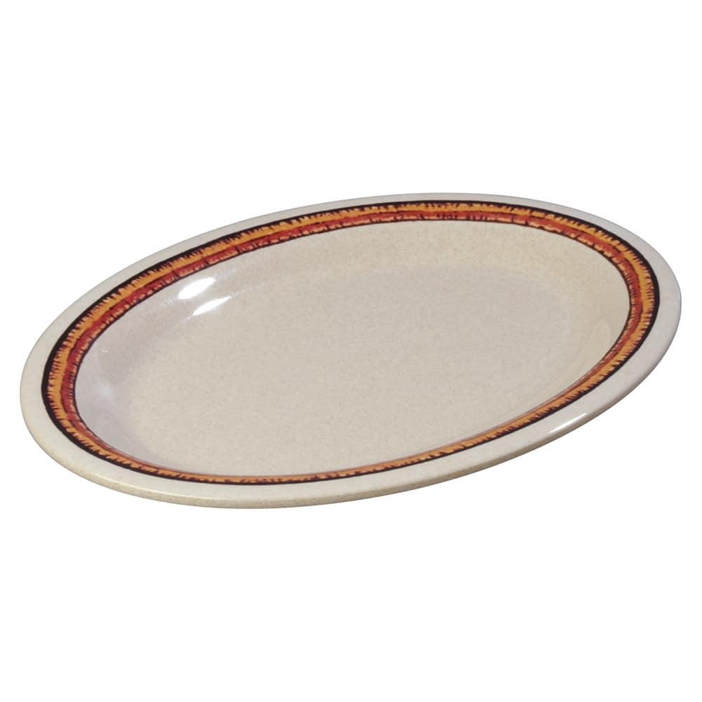 "Carlisle 43083908 Oval Platter - 12"" x 9.25"", Melamine, Sierra Sand on Sand"