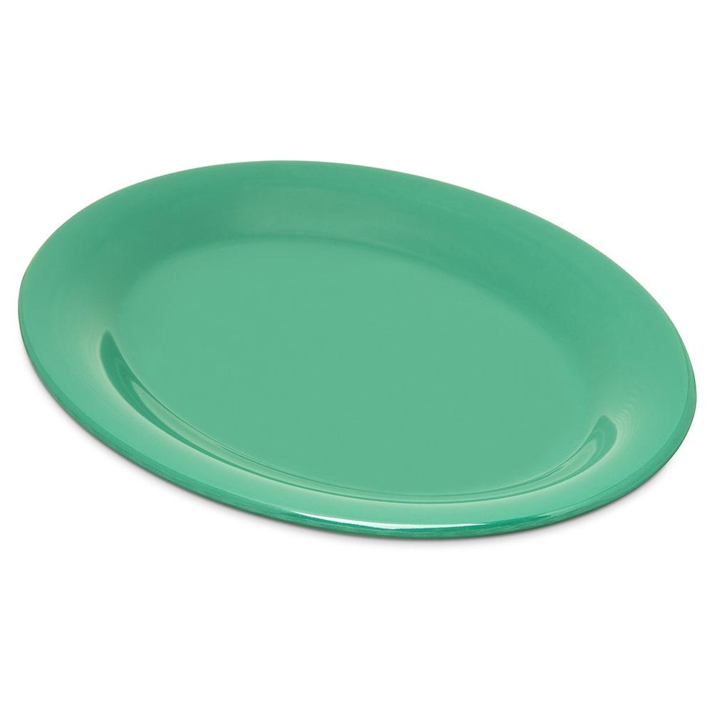 """Carlisle 4308609 Oval Platter - 9.5"""" x 7.25"""", Melamine, Meadow Green"""